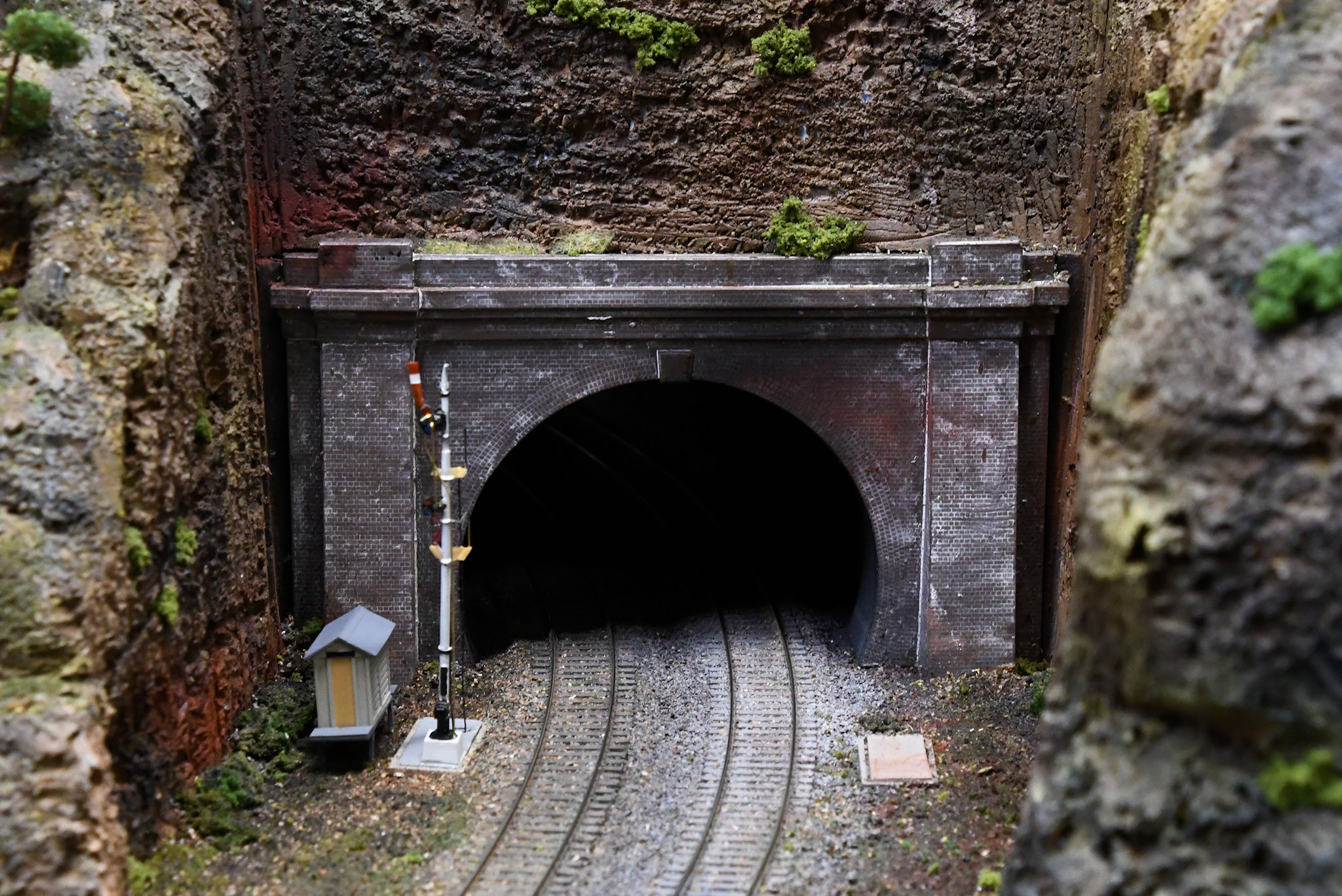 Tunnel, Blue Mountains Layout, Epping Model Railway Exhibition, Rosehill, Sydney, NSW.