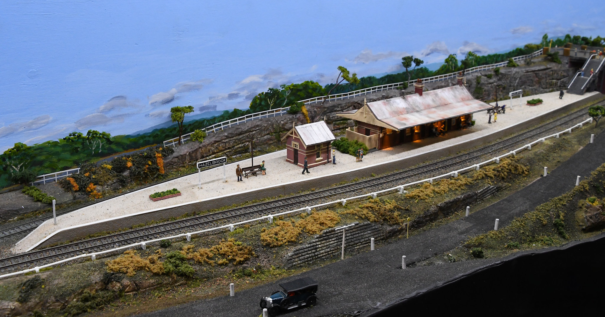 Hazelbrook Railway Station, Blue Mountains Layout, Epping Model Railway Exhibition, Rosehill, Sydney, NSW.
