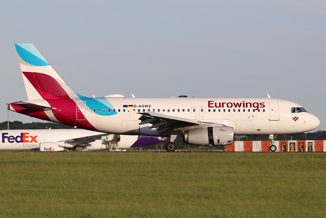 D-AGWZ Eurowings A319 at London Stansted (STN/EGSS)