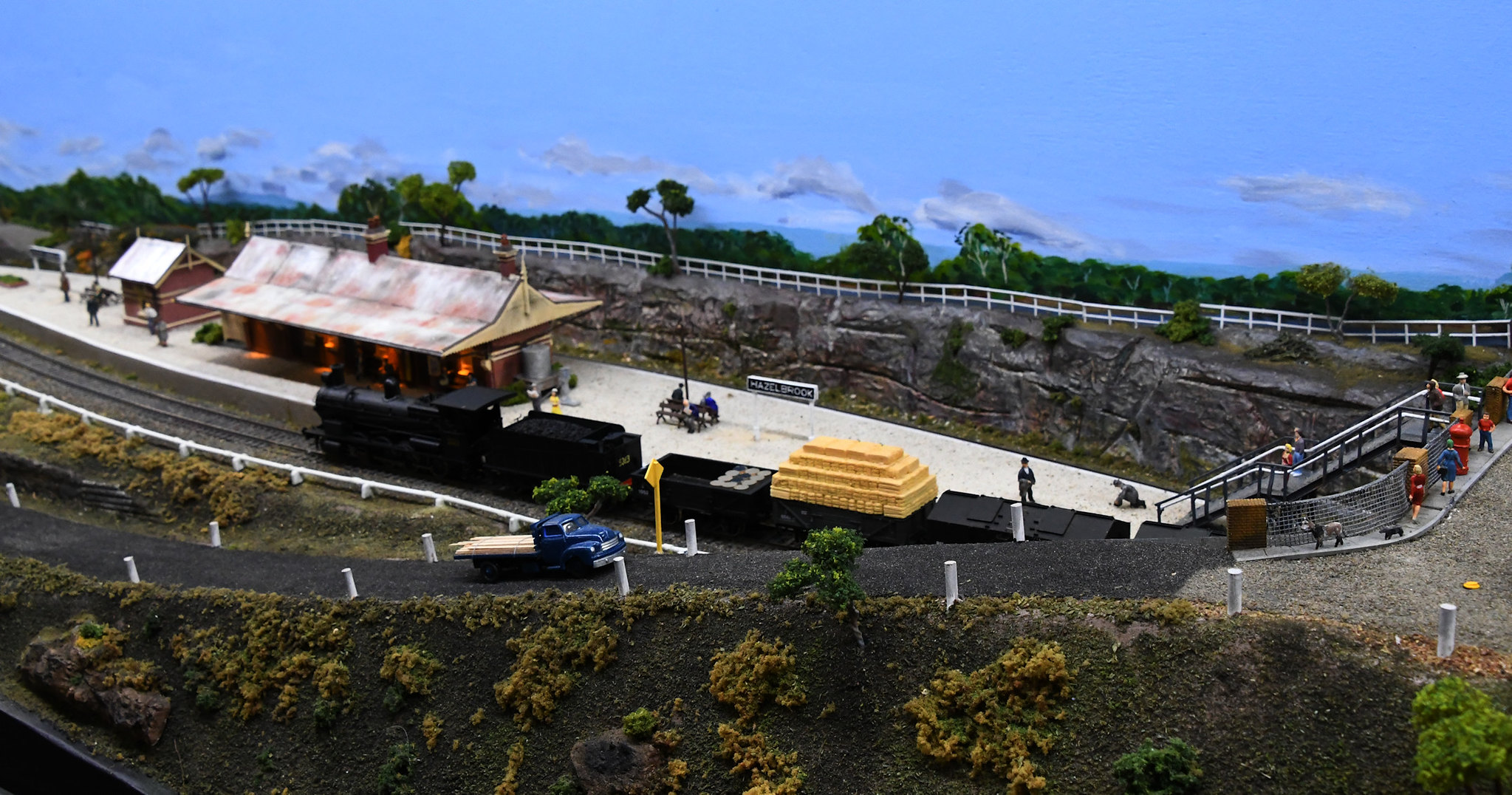 Blue Mountains Layout, Epping Model Railway Exhibition, Rosehill, Sydney, NSW.