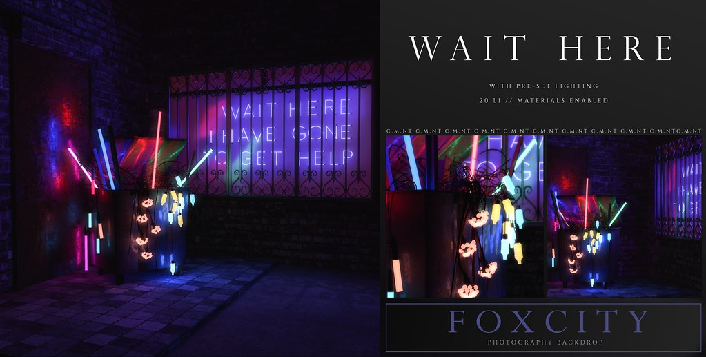FOXCITY. Photo Booth – Wait Here