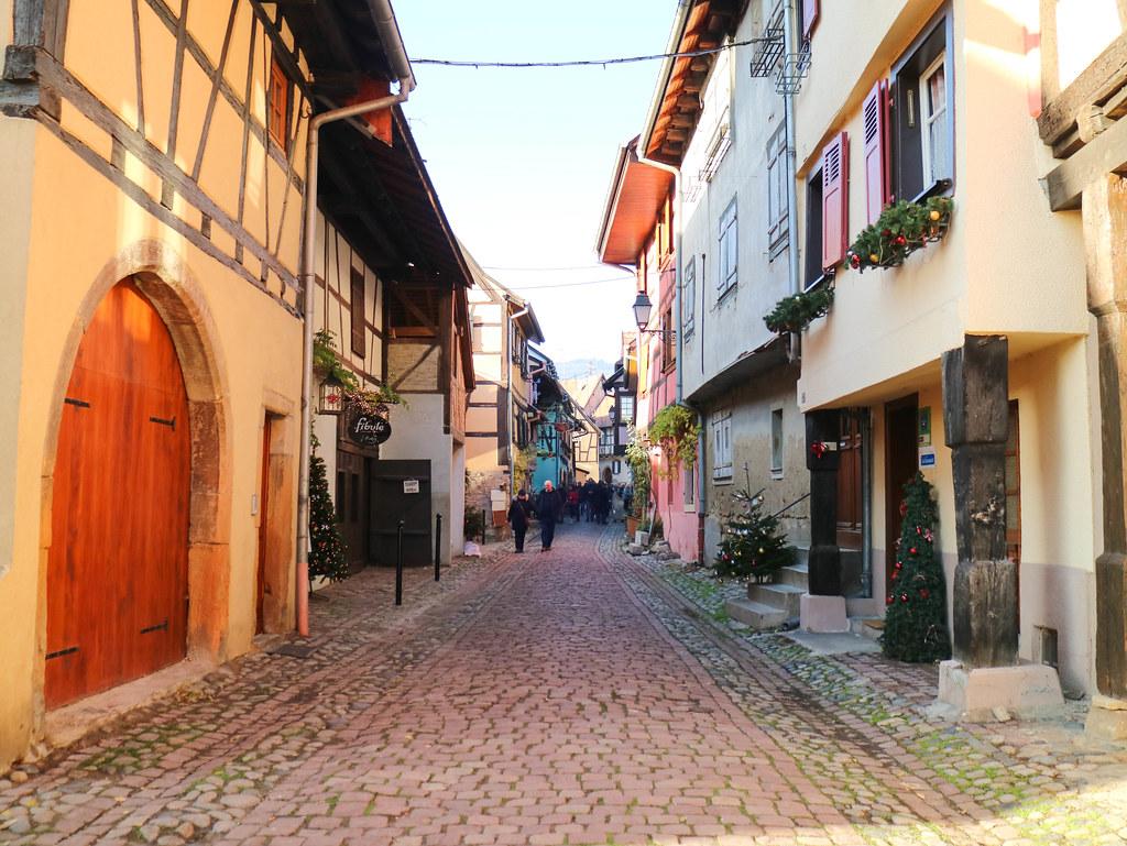 Recorriendo Eguisheim a pie