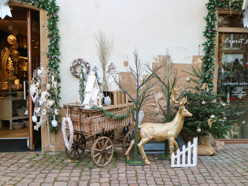 Decoración de navidad en Eguisheim