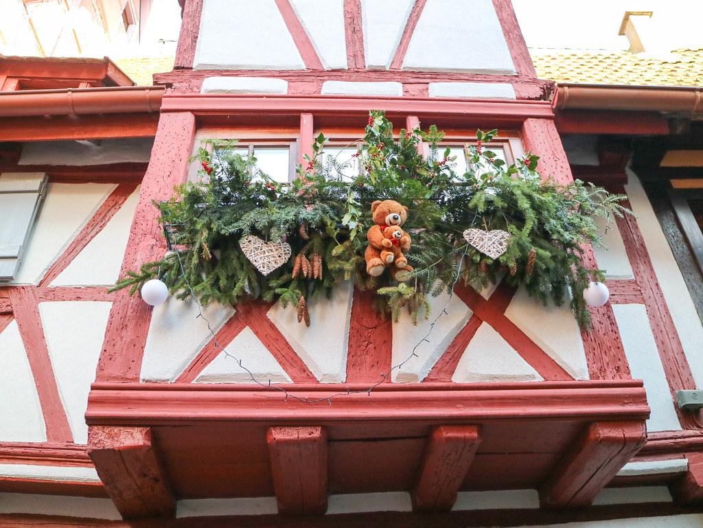 Balcones de los pueblos de Alsacia
