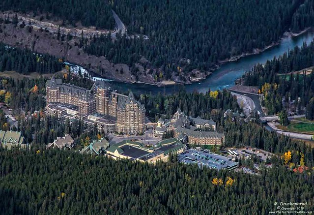 The Impressive Looking Fairmont Banff Springs Hotel from the Banff Gondola