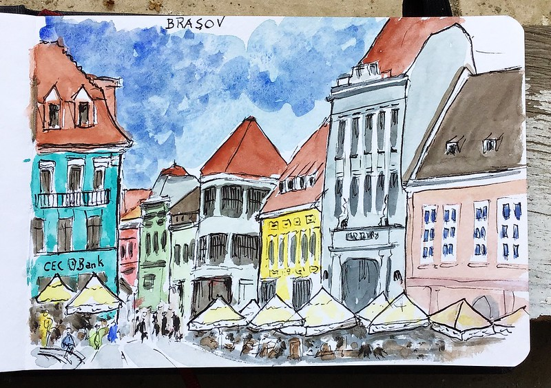 Brasov (Rumania). Piata Sfatului (Council Square)