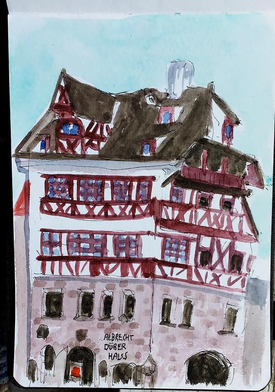 Albrecht Dürer Haus. Nurnberg (Deutschland)