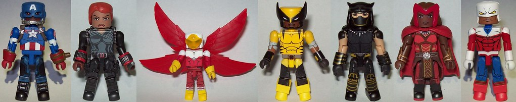 01 Nubian Avengers Capt Americaans Widow Falcon Wolverine Panther Scarlet Witch and Crusader Britain