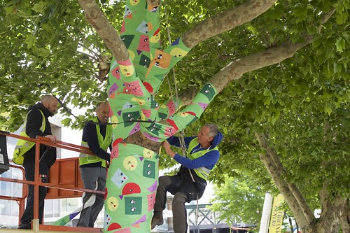 Tree dressing on the Southbank