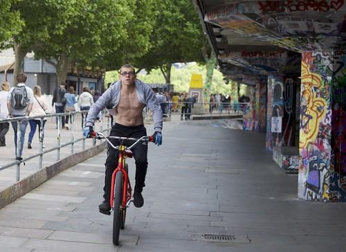 Not a skateboarder on the Southbank