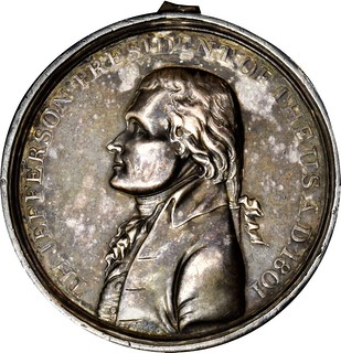 Thomas Jefferson Indian Peace medal obverse