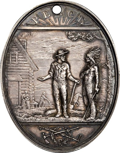 James Garfield Indian Peace medal reverse