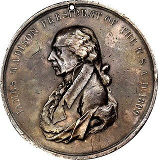 James MAdison Indian Peace medal obverse