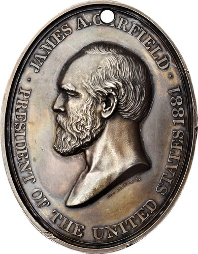 James Garfield Indian Peace medal obverse