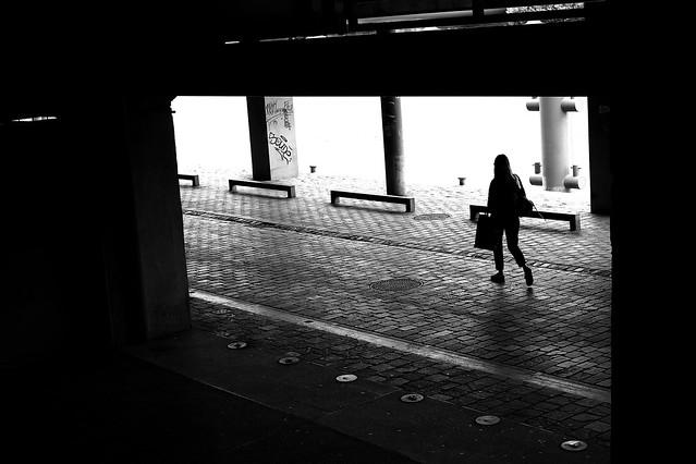 The woman through the walll