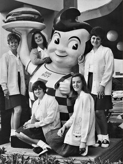 Bob's Big Boy Restaurant and students from Providence High School in 1970 Burbank, CA