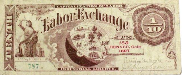 Denver Labor Exchange One-Tenth note