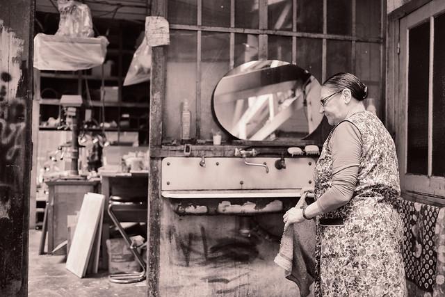 Série de Photos d'un atelier Artisanat à Montreuil, France