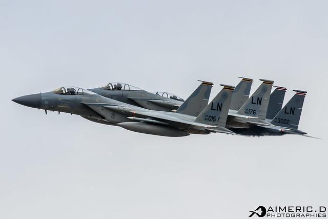 2xMcDonnell Douglas F-15C Eagle & McDonnell Douglas F-15 E Strike Eagle - United States Air Force