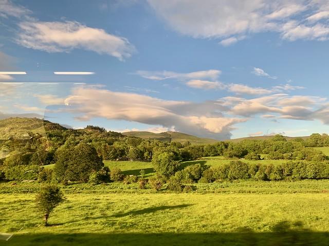 Irish Border Landscape from Train