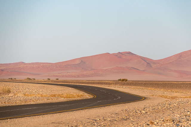 the (paved!) road to Sossusvlei