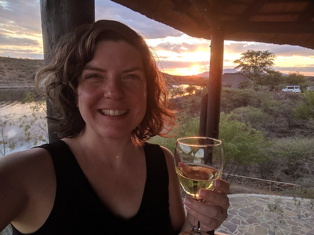 South African wine @ sunset
