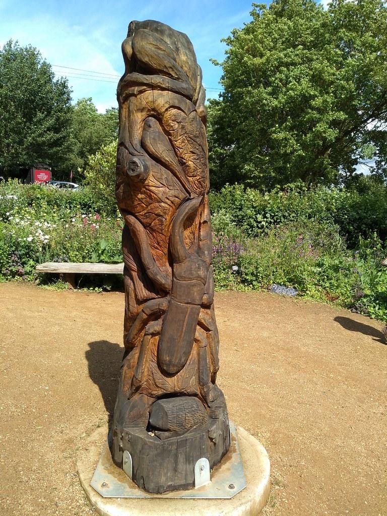 RSPB sanctuary Wood carving