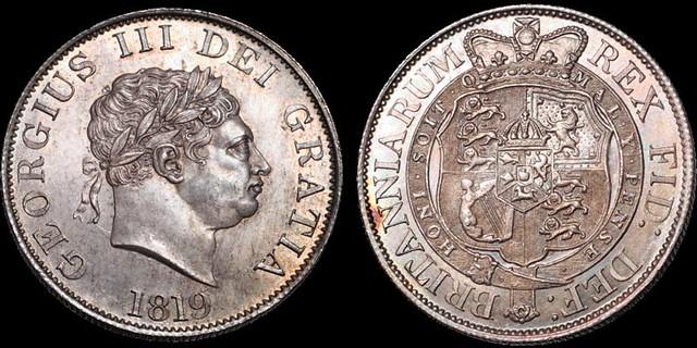 1819 George III Halfcrown