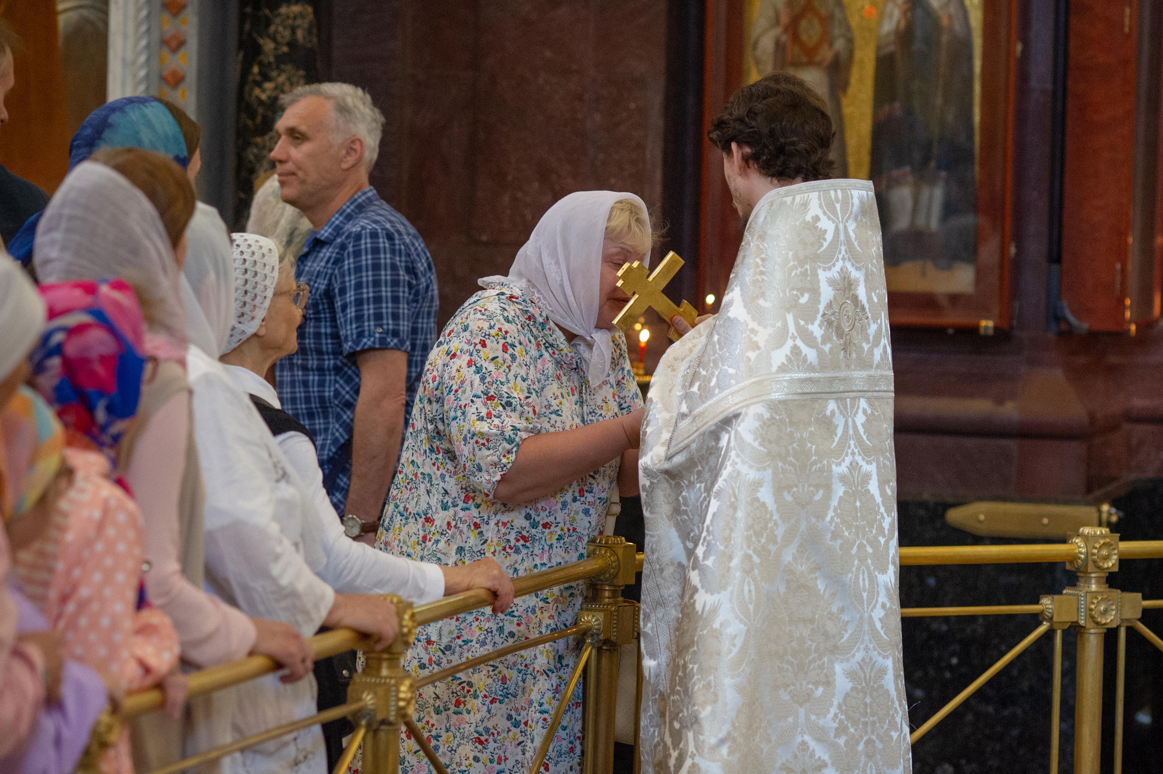 Божественая Литургия в праздник Вознесения в Храме Христа Спасителя