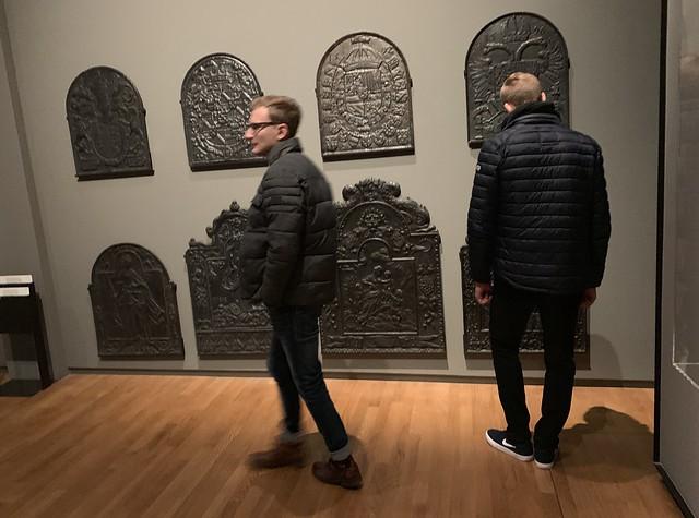 Exhibition of firebacks in Rijksmuseum, Amsterdam