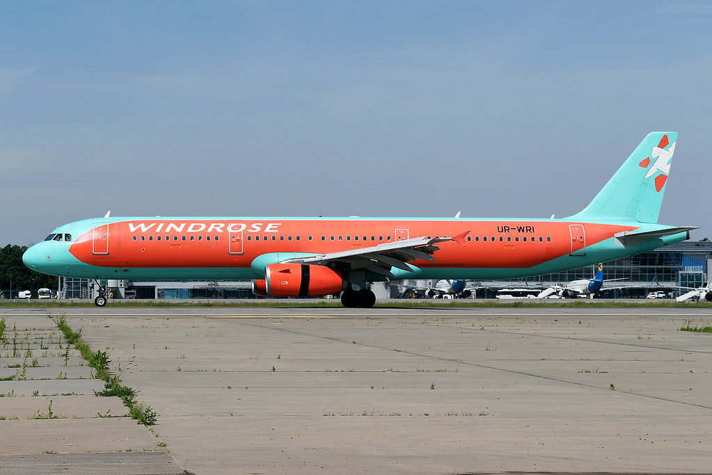 UR-WRV Windrose Airlines Airbus A321-231 at Kiev Boryspil International Airport on 28 May 2019