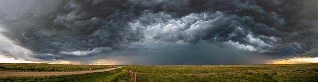 Watching the storm approach near Meade, KS
