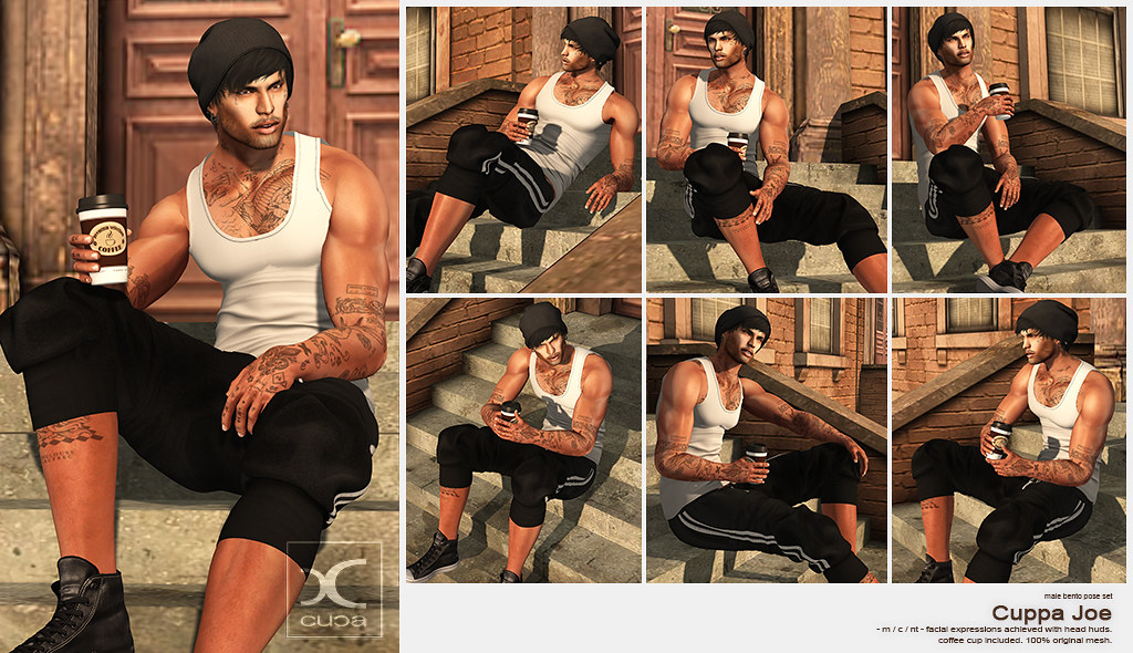 [..::CuCa Designs::..] Cuppa Joe Bento Pose Set @ Flourish!