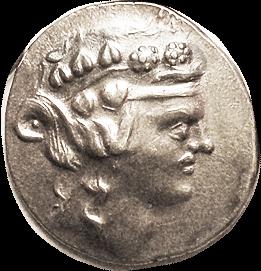 Tet Dionysos Head obverse