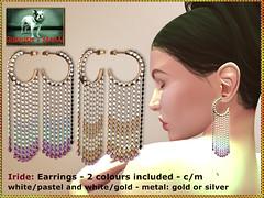 Bliensen - Iride - earrings - whitepastel & whitegold