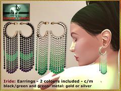 Bliensen - Iride - earrings - backgreen & green