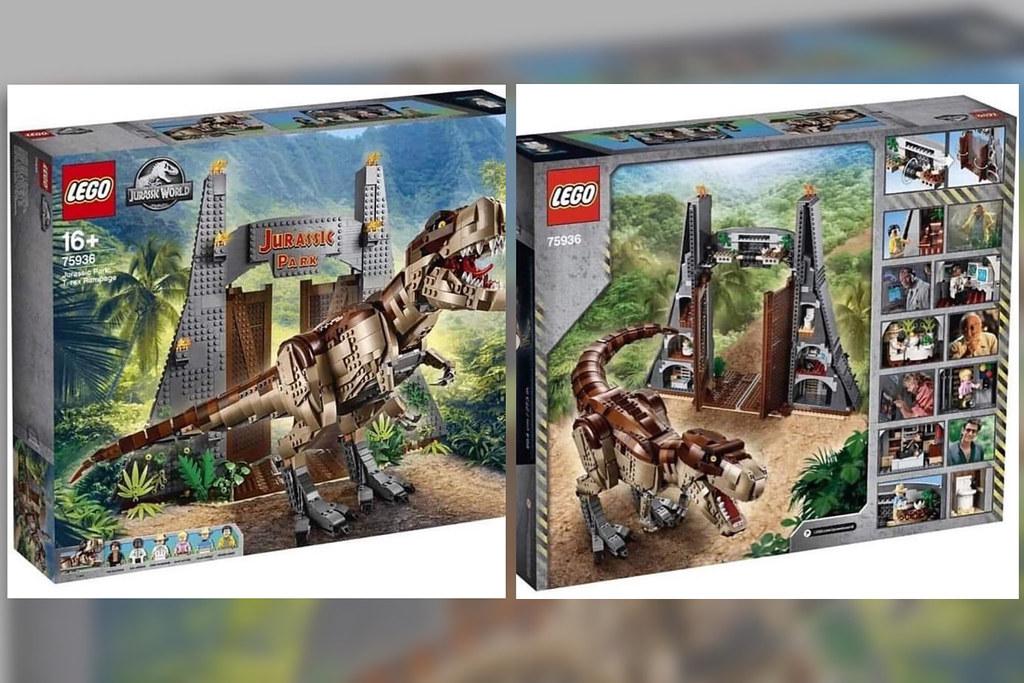 New Lego Jurassic Park T-Rex Rampage peek!