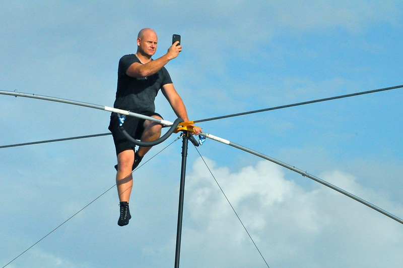 Nik Wallenda and Lijana Wallenda Practiced at Nathan Benderson Park, Sarasota, Fla., June 8, 2019, for Their NYC Times Square High Wire Walk