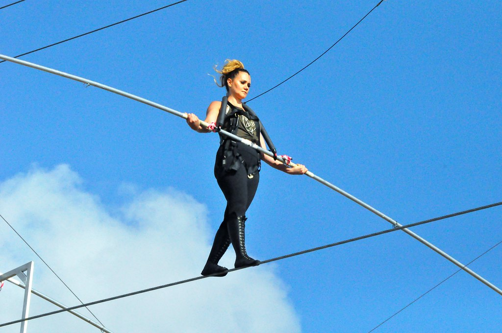Nik Wallenda and Lijana Wallenda Training in Sarasota, Fla. for Times Square Walk