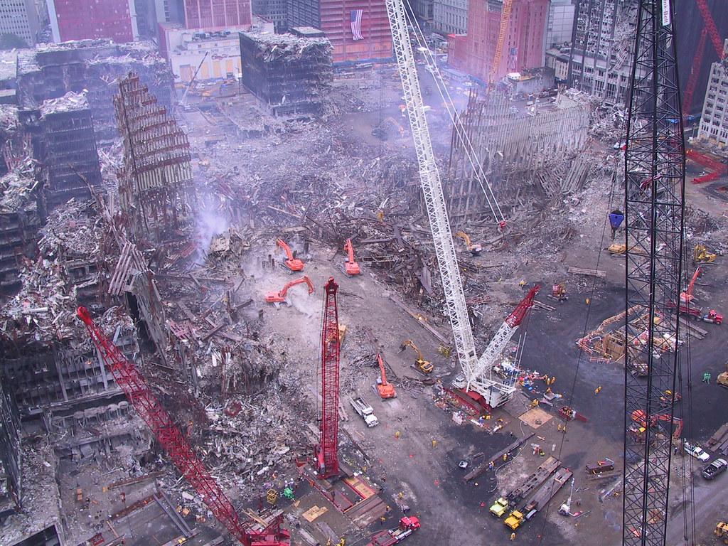 Архив неизвестных ранее фотографий последствий теракта 11 сентября.