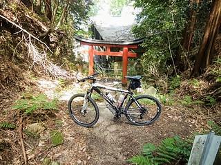Torii, entrance to Tanukidani-fudo-in Temple & Shrine.