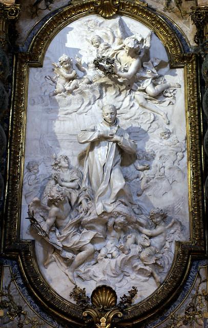 Rom, Piazza Sant'Ignazio, Sant'Ignazio di Loyola, Altar des San Luigi Gonzaga (altar of St. Louis Gonzaga)
