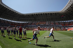 Футбол. Открытая тренировка сборной России