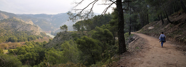 Kanitha following the historical trial to El Chorro gorge
