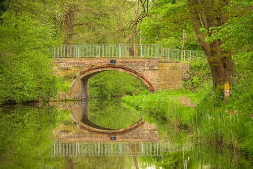 caunsall worcestershire england uk 2019 spring caunsallbridge staffordshireworcestershirecanal canal waterways towpath water reflections green tree trees plants grass outdoor landscape brick arch nikon d750 nikon80400mmf4556afsvredg