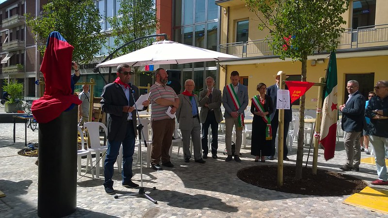 """8 giugno 2019 inaugurazione del monumento dedicato alla """"La staffetta partigiana"""""""