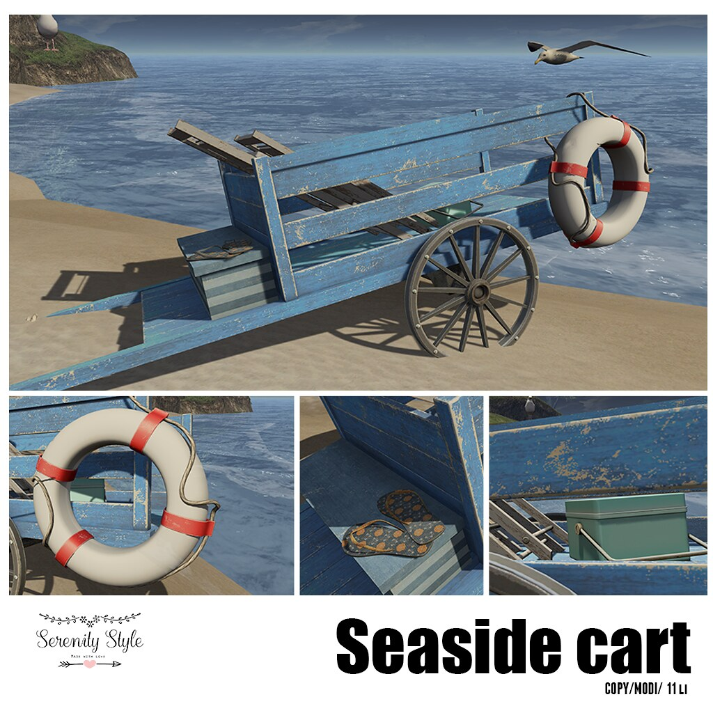 Serenity Style- Seaside cart - TeleportHub.com Live!