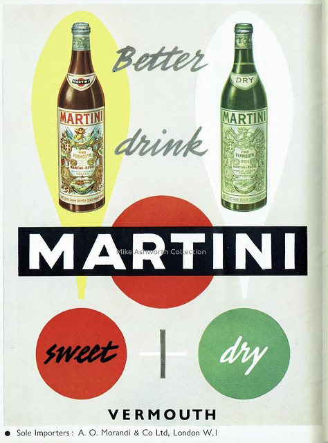 Better Drink Martini - advert issued 1953
