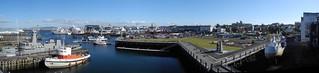 Reykjavik harbour panorama
