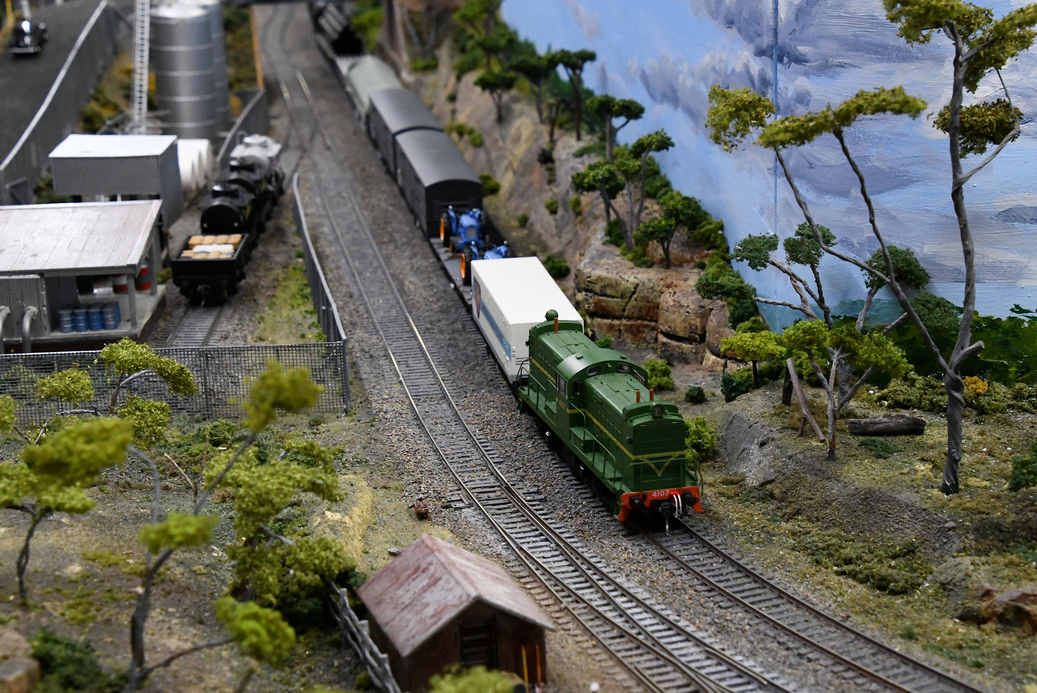4107, Blue Mountains Layout, Epping Model Railway Exhibition, Rosehill, Sydney, NSW.